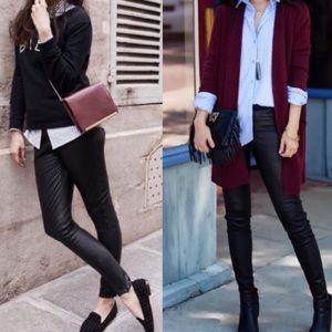 Madewell Black coated Skinny Skinny leggings